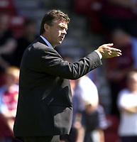 Photo: Richard Lane.<br />Walsall v Aston Villa. Pre-season friendly. 02/08/2003.<br />New Villa manager, David O'Leary.