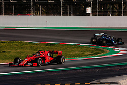 February 28, 2019 - Montmelo, BARCELONA, Spain - Charles Leclerc from Monaco with 16 of Scuderia Ferrari Mission Winnow SF90 in action and Valtteri Bottas fo Finland with 77 of Mercedes AMG Petronas Motorsport W10 in action   during the Formula 1 2019 Pre-Season Tests at Circuit de Barcelona - Catalunya in Montmelo, Spain on February 28. (Credit Image: © AFP7 via ZUMA Wire)