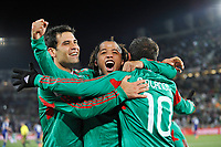 FOOTBALL - FIFA WORLD CUP 2010 - GROUP STAGE - GROUP A - FRANCE v MEXICO - 16/06/2010 - PHOTO GUY JEFFROY / DPPI - JOY CUAUHTEMOC BLANCO (MEX) AFTER HIS GOAL WITH GIOVANI DOS SANTOS