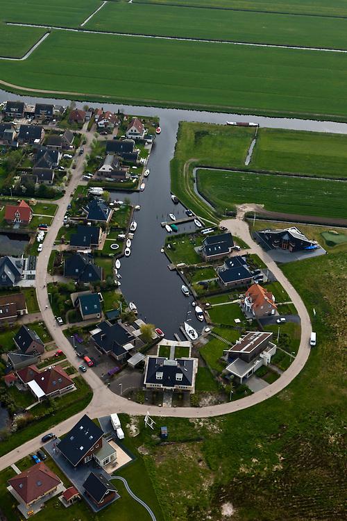 Nederland, Friesland, Gemeente Gaasterlan-Sleat, 28-04-2010;<br /> Villapark Elahuizen, jachthaventje en villa's op het platteland. Vlakbij de Fluessen.<br /> luchtfoto (toeslag), aerial photo (additional fee required)<br /> foto/photo Siebe Swart