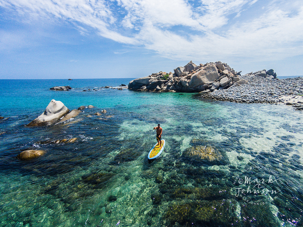 Stand-Up Paddle Boarding at Cabo Pulmo, Gulf of California, Baja California Sur, Mexico ****Model Release available