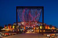 10/Septiembre/2020 Madrid. Alcorcón.<br /> Centro comercial X-Madrid iluminado por AOM.<br /> <br /> ©JOAN COSTA