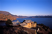 Namu's Palace, house belongs to Namu a now famous Mo Suo minority  woman whom is a big star on Chinese TV. Lugu Lake, northwest Yunnan province.