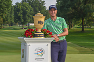 Justin Thomas (USA) and The Gary Player Cup for winning the 2018 World Golf Championships - Bridgestone Invitational, at the Firestone Country Club, Akron, Ohio. 8/5/2018.<br /> Picture: Golffile | Ken Murray<br /> <br /> <br /> All photo usage must carry mandatory copyright credit (© Golffile | Ken Murray)