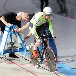 APELDOORN (NED) baanwielrennen<br /> Dion Beukeboom kwalificeerd zich als snelste voor de finale achtervolging tijdens het Nederlands Kampioenschap baanwielrennen in het Omnisportcentrum in Apeldoorn
