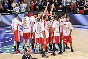 DESCRIZIONE : Campionato 2014/15 Dinamo Banco di Sardegna Sassari - Olimpia EA7 Emporio Armani Milano Playoff Semifinale Gara3<br /> GIOCATORE : Team Milano<br /> CATEGORIA : Fair Play Before Pregame<br /> SQUADRA : Olimpia EA7 Emporio Armani Milano<br /> EVENTO : LegaBasket Serie A Beko 2014/2015 Playoff Semifinale Gara3<br /> GARA : Dinamo Banco di Sardegna Sassari - Olimpia EA7 Emporio Armani Milano Gara4<br /> DATA : 02/06/2015<br /> SPORT : Pallacanestro <br /> AUTORE : Agenzia Ciamillo-Castoria/L.Canu