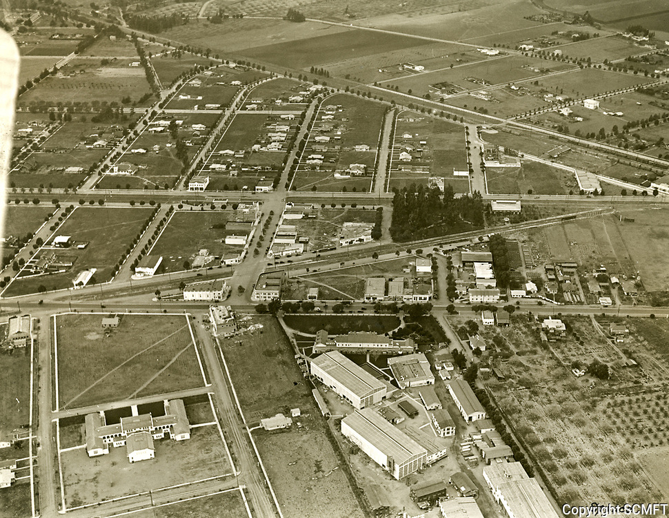 1921 Aerial of Thomas Ince's second studio in Culver City, CA