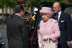 Buckingham Palace has announced Prince Philip, The Duke of Edinburgh, has passed away age 99 - FILE - Britain's Queen Elizabeth II and Britain's Prince Philip, Duke of Edinburgh arrived by car at the Arc de Triomphe. French President Francois Hollande and Britain's Queen Elizabeth II attend a wreath laying ceremony on the Tomb of the Unknown Soldier at the Arc de Triomphein PAris, France on June 5, 2014. Photo by Romuald Meigneux/Pool/ABACAPRESS.COM.
