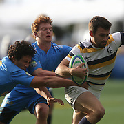 BERKELEY, CA - NOVEMBER 08:  Patrick Barrientes #9 of California runs with the ball during the PAC Rugby 7's Championship between UCLA and California at Witter Rugby Field at the University of California on November 8, 2015 in Berkeley, California. California won the match by a score of 17-5. (Photo by Alex Menendez/Getty Images) *** Local Caption *** Patrick Barrientes