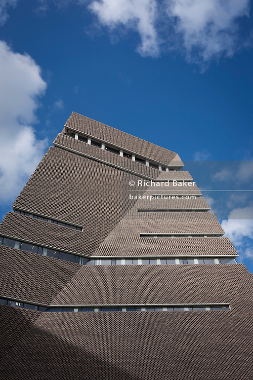 The Switch House, Tate Modern's new pyramid extension on London's Southbank.