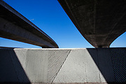 Under the 105 freeway next to Los Angeles River, Long Beach, California, USA