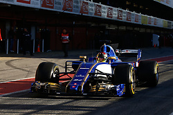March 7, 2017 - Barcelona, Cataluna, Spain - Motorsports: FIA Formula One World Championship 2017, Test in Barcelona,.Pascal Wehrlein (GER, Sauber F1 Team) (Credit Image: © Hoch Zwei via ZUMA Wire)
