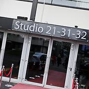 NLD/Hilversum/20120223 - Diverse panden op het Mediapark in Hilversum, studio 21 ingang
