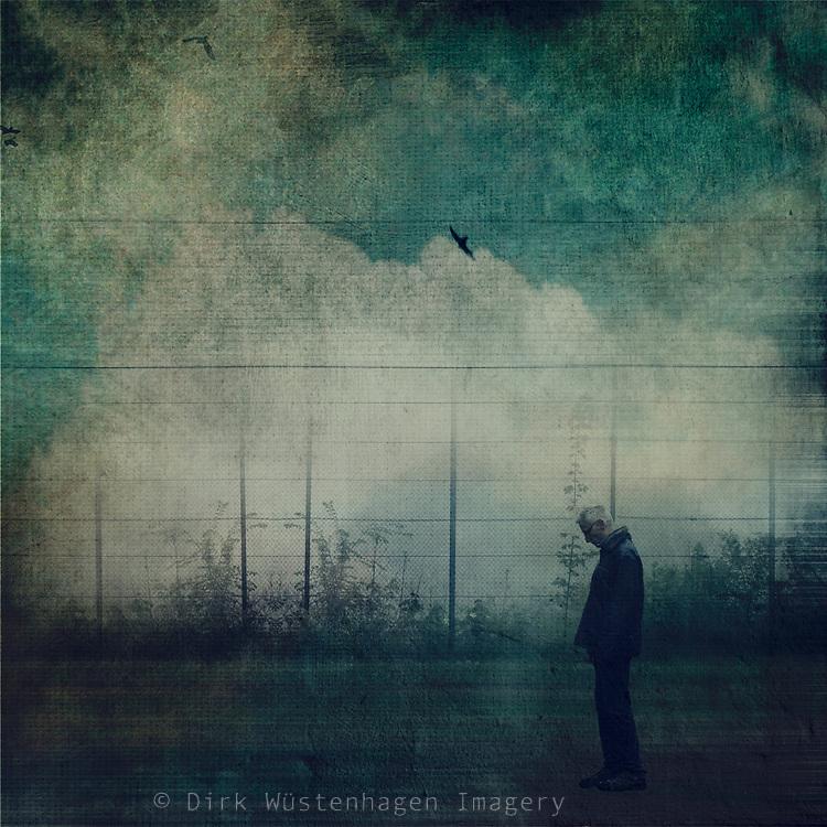 man standing on a field