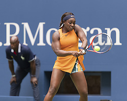 August 31, 2018 - New York, New York, United States - Sloane Stephens of USA returns ball during US Open 2018 3rd round match against Victoria Azarenka of Belarus at USTA Billie Jean King National Tennis Center (Credit Image: © Lev Radin/Pacific Press via ZUMA Wire)