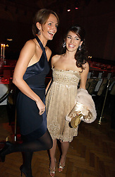 Left to right, models SAFFRON ALDRIDGE and  KELLY BROOK at the 6th annual Lancome Colour Design Awards in association with CLIC Sargent Cancer Care held at Lindley Hall, Victoria, London on 28th November 2006.<br />