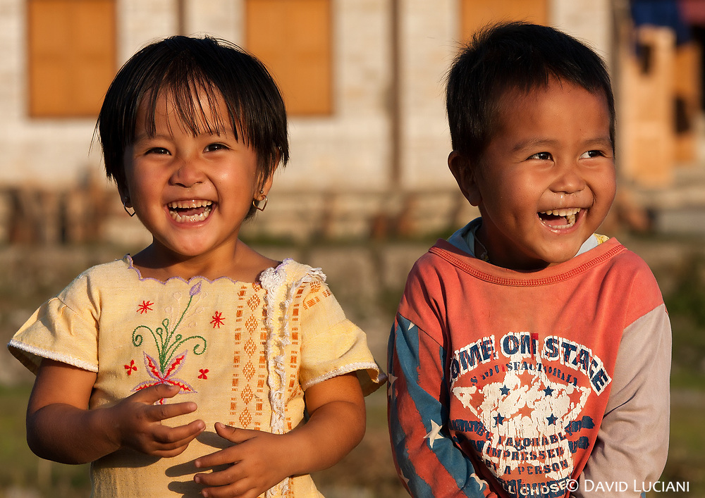 This two kids were shy, but very happy to pose for the camera.