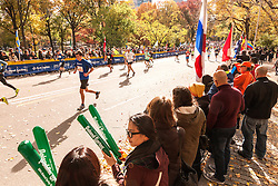 ING New York CIty Marathon: spectators line course in final quarter mile as runners approach finish line