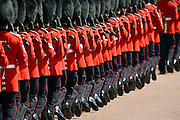 Foot Guards of the Household Division at Trooping The Colour parade, London, UK