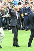 Koninginnedag 2008 / Queensday 2008. <br /> <br /> Koningin Beatrix viert Koninginnedag dit jaar in Friesland. De vorstin en haar familie bezochten op 30 april Makkum en Franeker.<br /> <br /> Queen Beatrix celebrates Queensday this year in Friesland (the Nothren provice in Holland). The Queen and its family visited Makkum and Franeker on 30 April.<br /> <br /> Op de foto/ On the Photo:Prins Willem Alexander doet mee aan de lokale sport Kaatsen/ Prince Willem Alexander plays a local Game