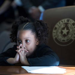 Austin, Texas January 10, 2016   Opening Day of the 85th Texas House. <br /> <br /> Mariana Thompson, granddaughter of State Rep. Senfronia Thompson of Houston