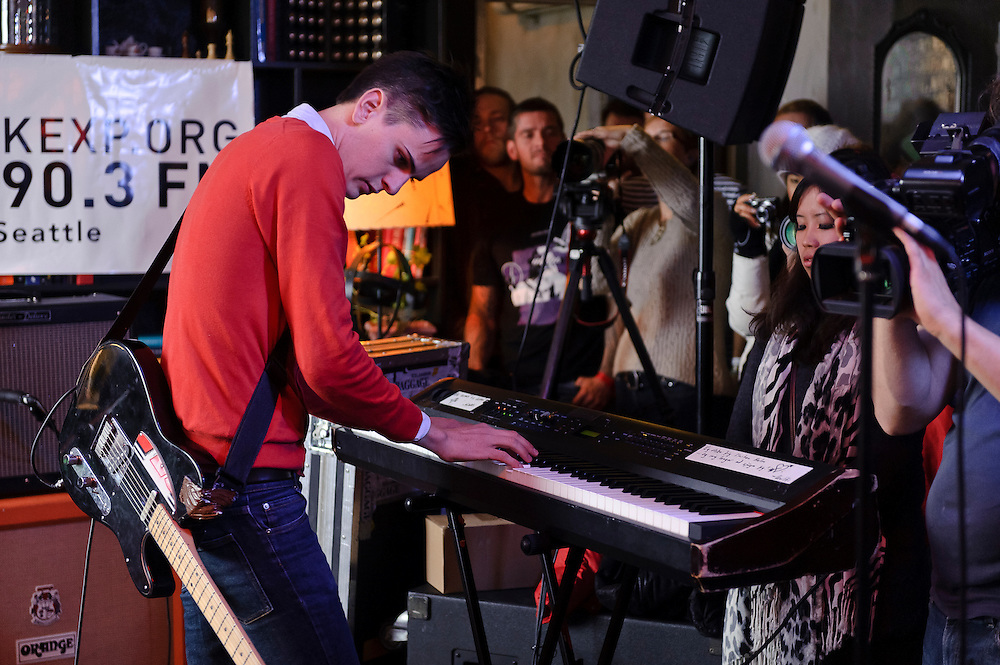Photos of the Icelandic instrumental rock band For A Minor Reflection performing at KEX Hostel in Reykjavik for Iceland Airwaves music festival. October 12, 2011. Copyright © 2011 Matthew Eisman. All Rights Reserved.
