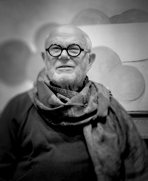 Noted Author and illustrator Tomie dePaola, photographed in his Studio.