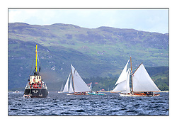 Day three of the Fife Regatta, Cruise up the Kyles of Bute to Tighnabruaich<br /> <br /> Vic 32 with The Truant, Ross Ryan, GBR, Gaff Cutter 8mR, Wm Fife 3rd, 1910 and Viola, Yvon Rautureau, FRA, Gaff Cutter, Wm Fife 3rd, 1908<br /> * The William Fife designed Yachts return to the birthplace of these historic yachts, the Scotland's pre-eminent yacht designer and builder for the 4th Fife Regatta on the Clyde 28th June–5th July 2013<br /> <br /> More information is available on the website: www.fiferegatta.com