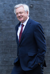 Downing Street, London, March 13th 2017. Secretary of State for Exiting the European Union David Davis outside 10 Downing Street.