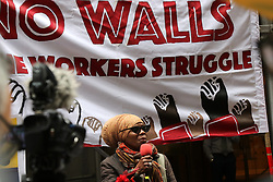 May 1, 2019 - New York City, New York, US - Hundreds of people marked May Day - -  the day when workers around the world, regardless of where they live, what their job is, or what language they speak celebrated their unity as a global working class in New York City  on 1 May, 2019,  with protests, walkouts and rallies. Activists rallied on Wall Street in-front of the Trump Building in solidarity with the ongoing international workers struggle. (Credit Image: © G. Ronald Lopez/ZUMA Wire)
