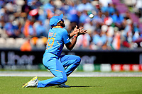 Cricket - 2019 ICC Cricket World Cup - Group Stage: India vs. Afghanistan<br /> <br /> Vijay Shankar of India takes the catch of Gulbadin Naib of Afghanistan off the bowling of Hardik Pandya of India during the cricket world cup match at the Hampshire Bowl, Southampton.<br /> <br /> COLORSPORT/SHAUN BOGGUST