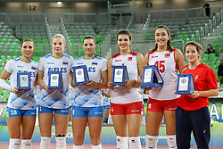 Best players after the volleyball match between National team of Turkey and Slovenia in Gold Medal game of Womens U23 World Championship 2017, on September 17, 2017 in SRC Stozice, Ljubljana, Slovenia. Photo by Morgan Kristan / Sportida