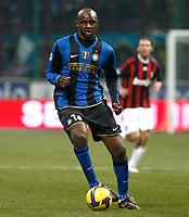 Fotball<br /> Italia<br /> Foto: Inside/Digitalsport<br /> NORWAY ONLY<br /> <br /> Patrick Vieira (Inter)<br /> <br /> 15.02.2009<br /> Inter v Milan (2-1)