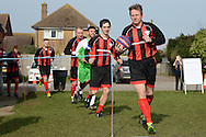 GLOUCESTERSHIRE, ENGLAND – MARCH 12: Stuart Pearce makes his debut for non-league Longford AFC as part of the #directfix campaign by Direct Line. Leading players out.