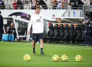 Assistant coach of PSG Zsolt Low during the warm up before the French championship Ligue 1 football match between RC Lens (Racing Club de Lens) and Paris Saint-Germain (PSG) on September 10, 2020 at Stade Felix Bollaert in Lens, France - Photo Juan Soliz / ProSportsImages / DPPI