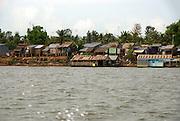 Cambodia, Mekong River Shanty Town