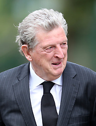 Roy Hodgson outside St Luke's and Christ Church, London, where the memorial service for former Chelsea player Ray Wilkins is being held. Wilkins, who began an impressive playing career at Stamford Bridge and also later coached them, died aged 61 following a cardiac arrest.