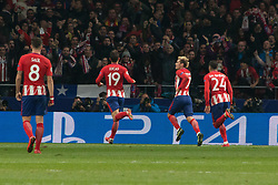 November 22, 2017 - Madrid, Madrid, Spain - Griezmann celebrates his goal..during Atletico de Madrid won by 2 to 0 whit goals of Griezmann and Gameiro against Roma. (Credit Image: © Jorge Gonzalez/Pacific Press via ZUMA Wire)