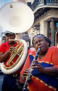 Musician plays the French Quarter in New Orleans Luisana