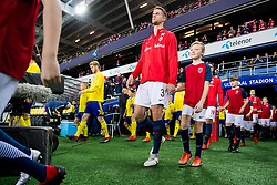 March 26, 2019 - Oslo, NORWAY - 190326 Kristoffer Ajer of Norway ahead of the UEFA Euro qualifier football match between Norway and Sweden on March 26, 2019 in Oslo..Photo: Jon Olav Nesvold / BILDBYRÃ…N / kod JE / 160435 (Credit Image: © Jon Olav Nesvold/Bildbyran via ZUMA Press)