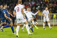 England forward Mason Mount on the ball during the UEFA European 2020 Qualifier match between Kosovo and England at the Fadil Vokrri Stadium, Pristina, Kosovo on 17 November 2019.