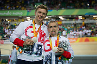 20160911 Copyright onEdition 2016©<br /> Free for editorial use image, please credit: onEdition<br /> <br /> Cyclist Neil Fachie MBE (Tandem B) from Aberdeen, competing, wins a silver medal for ParalympicsGB at the Rio Paralympic Games 2016.<br />  <br /> ParalympicsGB is the name for the Great Britain and Northern Ireland Paralympic Team that competes at the summer and winter Paralympic Games. The Team is selected and managed by the British Paralympic Association, in conjunction with the national governing bodies, and is made up of the best sportsmen and women who compete in the 22 summer and 4 winter sports on the Paralympic Programme.<br /> <br /> For additional Images please visit: http://www.w-w-i.com/paralympicsgb_2016/<br /> <br /> For more information please contact the press office via press@paralympics.org.uk or on +44 (0) 7717 587 055<br /> <br /> If you require a higher resolution image or you have any other onEdition photographic enquiries, please contact onEdition on 0845 900 2 900 or email info@onEdition.com<br /> This image is copyright onEdition 2016©.<br /> <br /> This image has been supplied by onEdition and must be credited onEdition. The author is asserting his full Moral rights in relation to the publication of this image. Rights for onward transmission of any image or file is not granted or implied. Changing or deleting Copyright information is illegal as specified in the Copyright, Design and Patents Act 1988. If you are in any way unsure of your right to publish this image please contact onEdition on 0845 900 2 900 or email info@onEdition.com