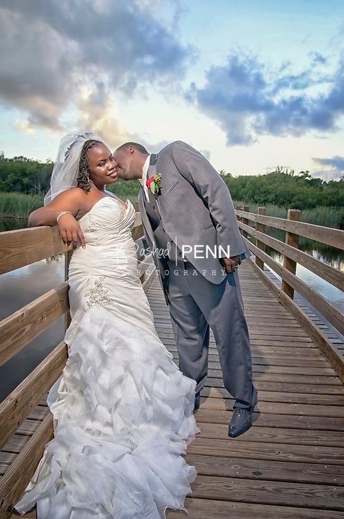 Jerah and Lewasieur Wedding, dressing at Comfort Suites, Wedding at New Dimension Ministries, Garden session at Cable Beach Hobby Horse Pond and reception at brother of the bride.