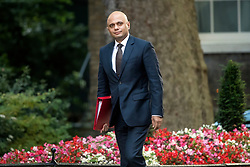 © Licensed to London News Pictures. 12/09/2017. London, UK. Secretary of State for Communities and Local Government SAJID JAVID arrives at 10 Downing Street in London ahead of a cabinet meeting.  In the early hours of this morning government won a vote in Commons passing the EU repeal bill, by a margin of 326 to 290 votes. Photo credit: Ben Cawthra/LNP