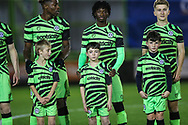 Forest Green Rovers academy  during the FA Youth Cup match between Forest Green Rovers and Helston Athletic at the New Lawn, Forest Green, United Kingdom on 29 October 2019.
