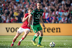 (L-R) Guus Til of AZ, Robin van Persie of Feyenoord during the Dutch Toto KNVB Cup Final match between AZ Alkmaar and Feyenoord on April 22, 2018 at the Kuip stadium in Rotterdam, The Netherlands.