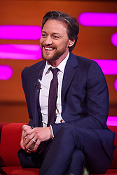 James McAvoy during the filming of the Graham Norton Show at BBC Studioworks 6, Television Centre, Wood Lane, London, to be aired on BBC One on Friday evening.