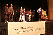 January 21, 2008 - Santa Barbara, CA: Martin Luther King Day Pre -march Rally, March and Celebration and Post-Rally Reception.? 9 a.m. Pre-March Rally at Santa Barbara High School.700 E. Anapamu Street. The ideals of Dr. King was expressed in circles of Peace, Equality, Spirituality and Love.? 10 a.m. March in Unity .We remembered the marches that Dr. King lead. Participants began the march at Santa Barbara High School and walked down Milpas Street to Santa Barbara Jr. High School..? 11 a.m. Celebration at the Marjorie Luke Theatre.721 E. Cota Street.  .Proclamations Honoring Dr.Martin Luther King,Jr..Supervisors Salud Carbajal and Janet Wolf and Brooks Firestone present a Proclamation from Santa Barbara County...The community came to enjoy the music, children?s essay competition winners, speakers and celebrations. .- Post-Rally Reception at the First United Methodist Church, 305 East Anapamu Street.  Fellowship, conversation and refreshments..(Photo by Rod Rolle)