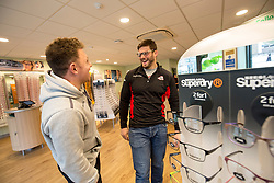 Edinburgh rugby players Ross Ford and Duncan Weir officially opened the new Specsavers store at 70 St John Road, Corstorphine, Edinburgh.