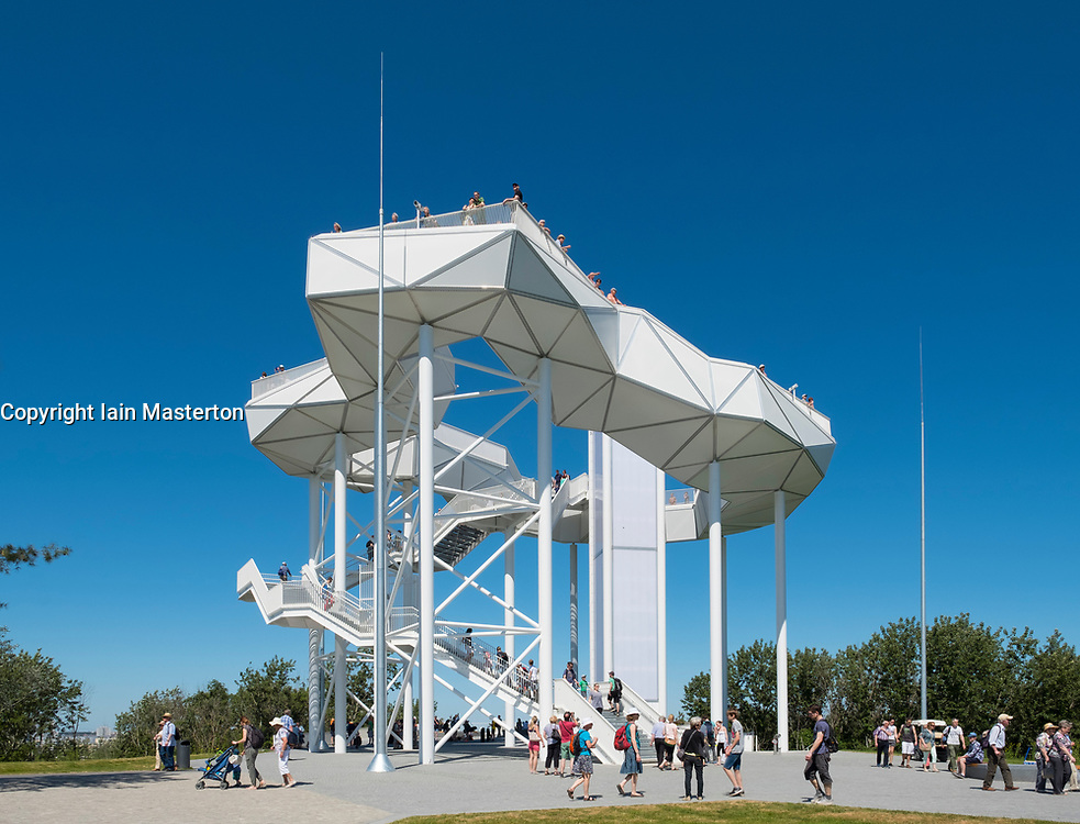 Wolkenhain lookout platform at IGA 2017 International Garden Festival (International Garten Ausstellung) in Berlin, Germany